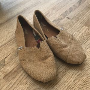TOMS Natural Burlap Women's Shoe